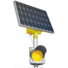 Светофор Т7 с солнечным элементом питания (одинарный)