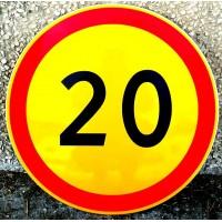 """Временный дорожный знак  3.24 """"Ограничение максимальной скорости"""""""